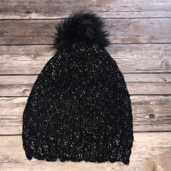 Black Puff Ball Hat cc1987d17f6
